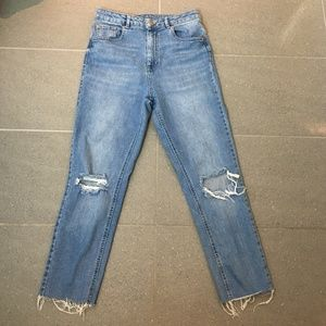 ASOS Distressed Blue Jeans